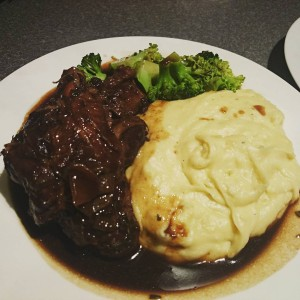 Balsamic Glazed Lamb Shanks with Julia Childs' Garlic Mash